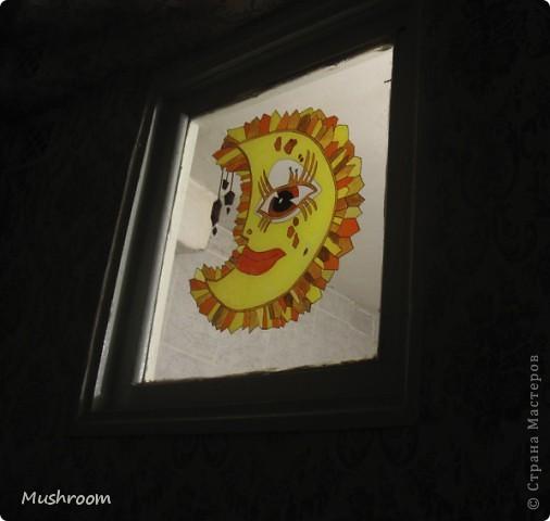 Солнце и Луна (акрил, витраж) фото 4
