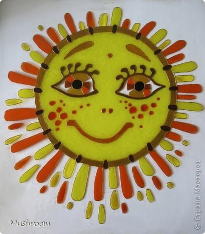 Солнце и Луна (акрил, витраж) фото 5