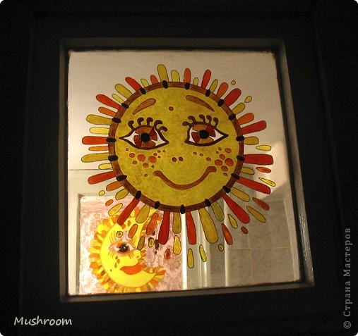 Солнце и Луна (акрил, витраж) фото 6