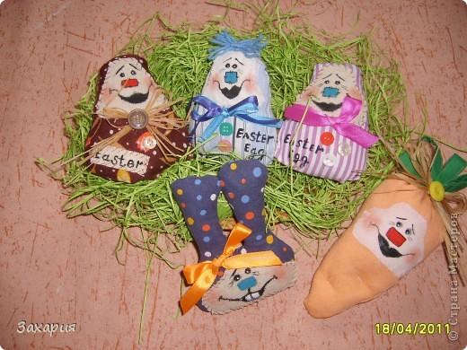 Яйца, кролик и морковка....такая пасхальная компания!