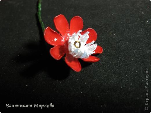 """Такие цветы были подарены нашей """"невесте""""     http://stranamasterov.ru/node/182082 .    Если вам понравился букетик, давайте вместе попробуем сотворить такие же цветы Приступим? фото 15"""