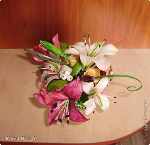 """Я сегодня без МК,но с """"идей""""))) Вот такой букет ждет мою cотрудницу сегодня ко дню рождения. ..Будет ей сюрприз… фото 4"""