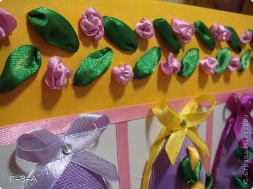 Вот еще яички покрасила к празднику !   материалы: картон. ленты ,ткань . фото 3