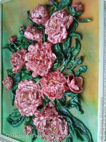 Пионы из солёного теста. Делала первый раз на заказ- попросили пионы и именно розовые. фото 5