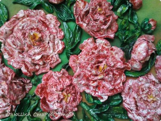 Пионы из солёного теста. Делала первый раз на заказ- попросили пионы и именно розовые. фото 3