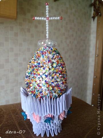 Пасхальное яйцо делала Я,  а подставку Лариса   http://stranamasterov.ru/user/23510   фото 1
