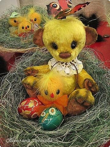 мишка-тэдди с цыплёночком-очень миленькие фото 1