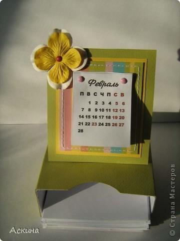 Этот календарик сделала еще в феврале,увидев эту работу http://www.liveinternet.ru/users/2715574/post119060424/  фото 1
