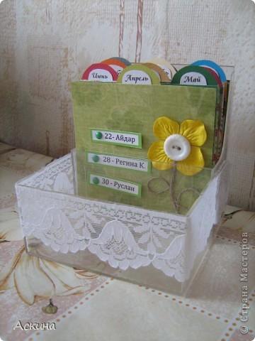 Этот календарик сделала еще в феврале,увидев эту работу http://www.liveinternet.ru/users/2715574/post119060424/  фото 6