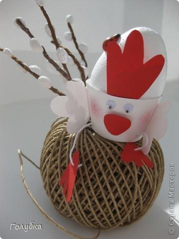 Сегодня с первоклассниками мы делали подставку для яйца на Пасху. фото 1