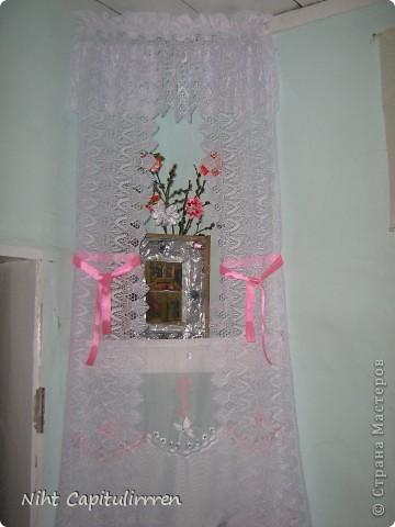 Два набожника у нашей бабули в доме в деревне. Вот и вербочку нарвали и украсили цветами канзаши))) фото 2