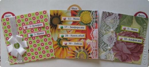 Этот календарик сделала еще в феврале,увидев эту работу http://www.liveinternet.ru/users/2715574/post119060424/  фото 13