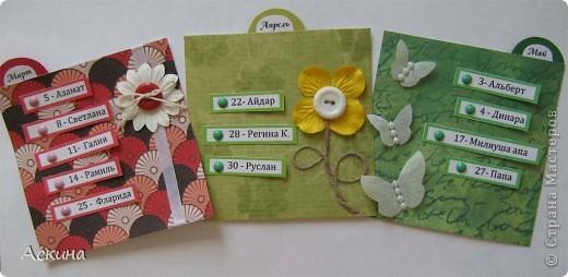 Этот календарик сделала еще в феврале,увидев эту работу http://www.liveinternet.ru/users/2715574/post119060424/  фото 10