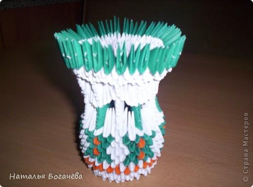 """Модульному оригами я научилась благодаря  Стране Мастеров, прекрасные мастер-класс. Заглянув однажды в эту страну, просто теперь там живу. """" Кораблик удачи"""" - такой он у меня получился фото 2"""