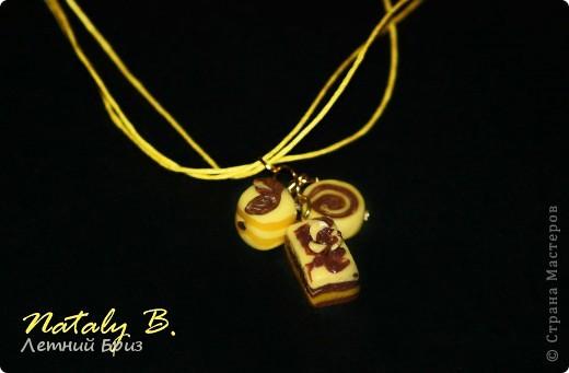 """Комплект-трио браслет, кулон и серьги """"Медовый праздник"""" фото 2"""