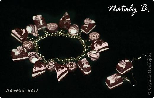 """Комплект-трио браслет, кулон и серьги """"Медовый праздник"""" фото 6"""
