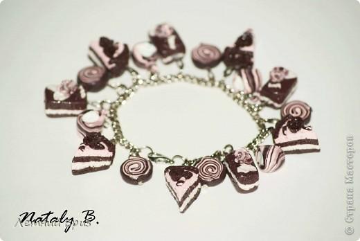 """Комплект-трио браслет, кулон и серьги """"Медовый праздник"""" фото 8"""