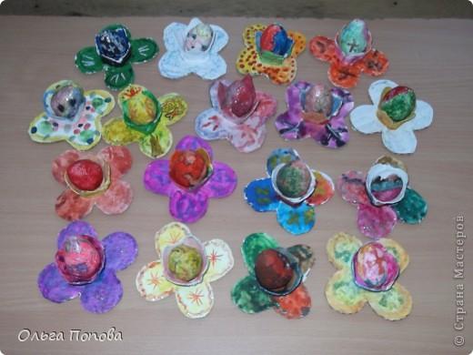 Вот такие яйца из папье-маше в подставочках делали мы с детьми в воскресной школе. фото 11