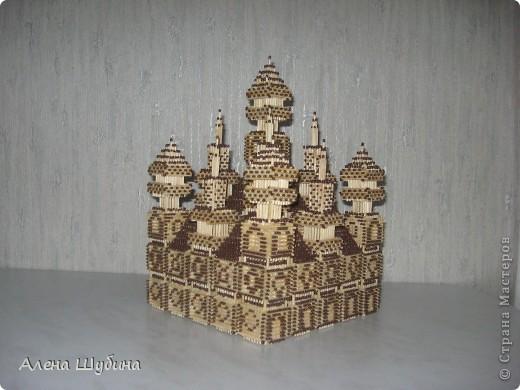 Замок из спичек без клея фото 1