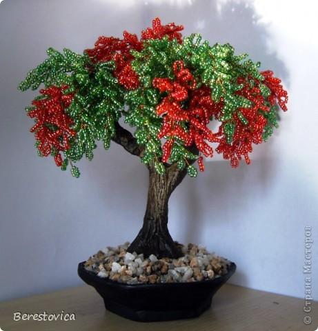 Бисероплетение цветущее дерево - Master class.