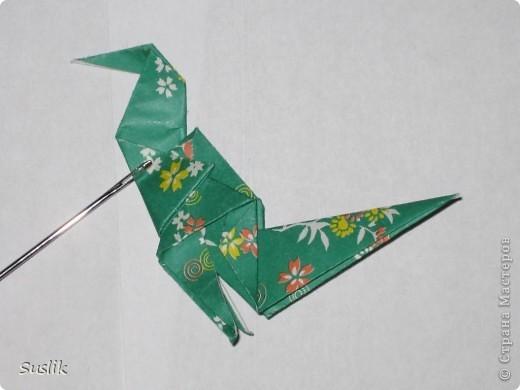 Ну вот, попробую сделать свой первый МК. =) Это динозаврик автора А.Йошизава. Для работы понадобится квадратный лист бумаги, я использовала со стороной 15 см. фото 28