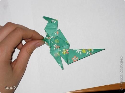 Ну вот, попробую сделать свой первый МК. =) Это динозаврик автора А.Йошизава. Для работы понадобится квадратный лист бумаги, я использовала со стороной 15 см. фото 32