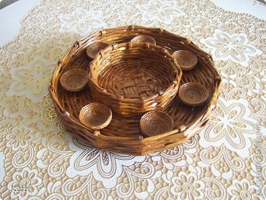 Эта плетёная корзиночка была сделана для мамы к 8 Марта, но сфоткала только сейчас. фото 4