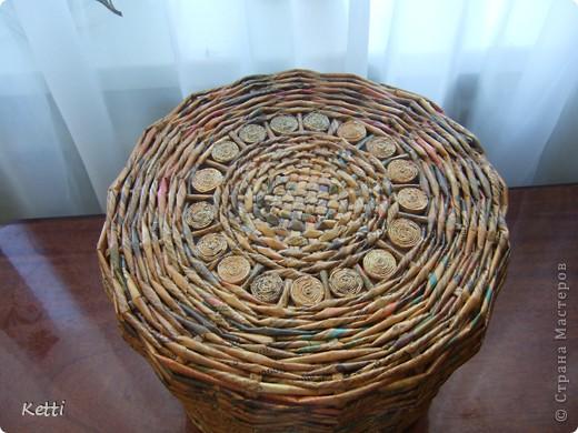 Эта плетёная корзиночка была сделана для мамы к 8 Марта, но сфоткала только сейчас. фото 1