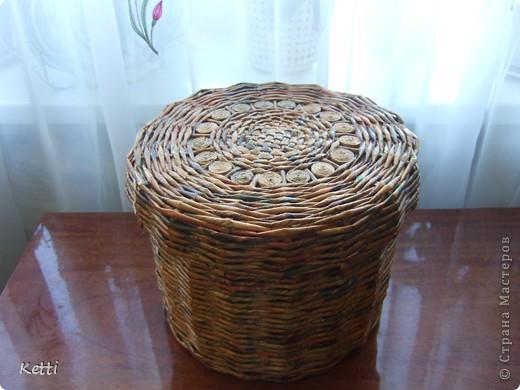 Эта плетёная корзиночка была сделана для мамы к 8 Марта, но сфоткала только сейчас. фото 2