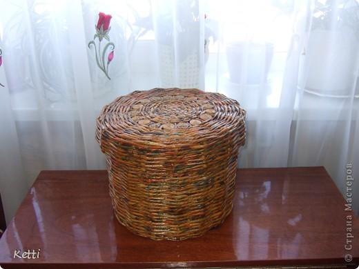 Эта плетёная корзиночка была сделана для мамы к 8 Марта, но сфоткала только сейчас. фото 3