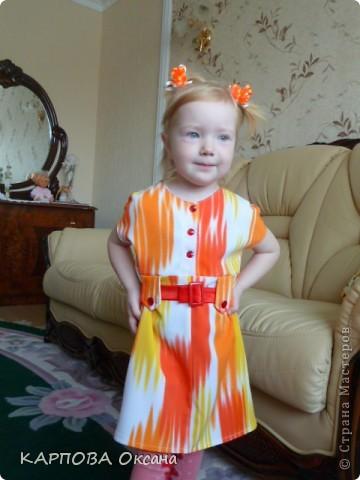 Платье из старой юбки старшей дочери. фото 4