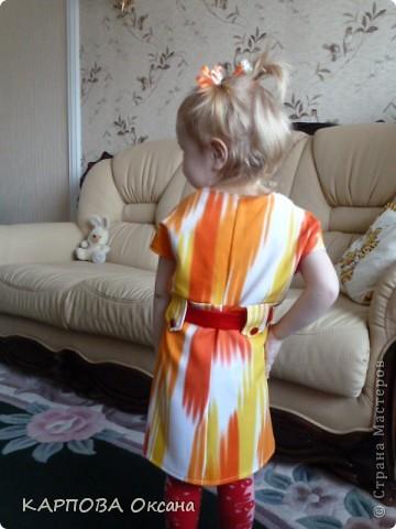 Платье из старой юбки старшей дочери. фото 5