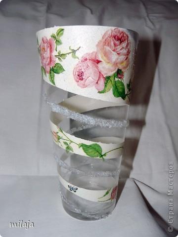 Купила обычную стеклянную вазу. фото 1