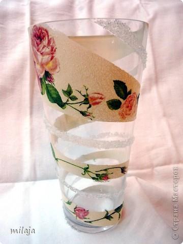 Купила обычную стеклянную вазу. фото 2