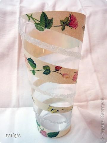 Купила обычную стеклянную вазу. фото 4