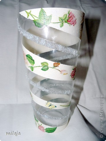 Купила обычную стеклянную вазу. фото 3