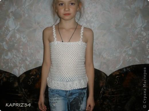 Это дочурка Лизуня, счастливая обладательница новой маечки фото 1