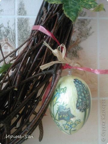 На Рождество руки не дошли до венка... Вот, решила к Пасхе наверстать упущенное ))) фото 9