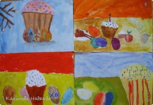 Начнем с урока рисования. Вчера делали эскиз праздничного пасхального стола.  фото 6