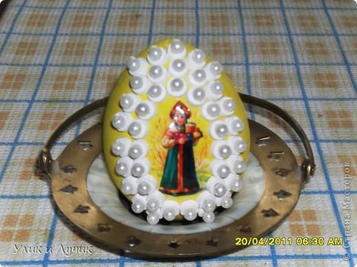 идею подглядела на сайте , яйцо-деревянная заготовка , большое прим 15 см