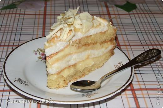 бисквитный торт с заварным кремом фото рецепт