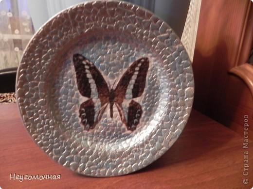 Акриловые краски, старая фарфоровая тарелка, истончённая распечатка и... вуаля!  фото 5