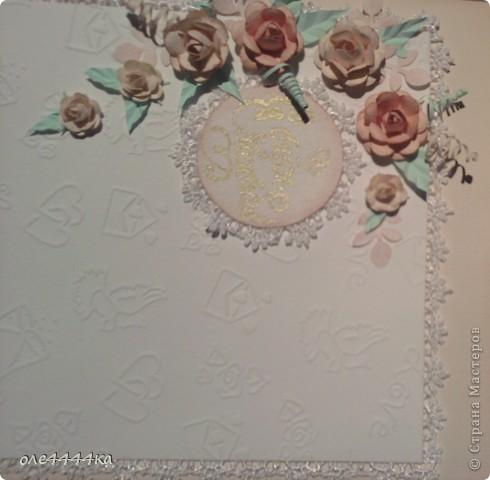 Вот такая свадебная открытка у меня получилась! фото 2