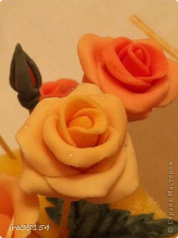Бисквитный торт с заварным кремом) украшения из мастики фото 3