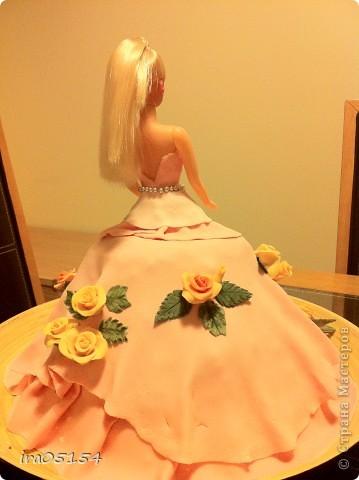 Бисквитный торт с заварным кремом) украшения из мастики фото 2