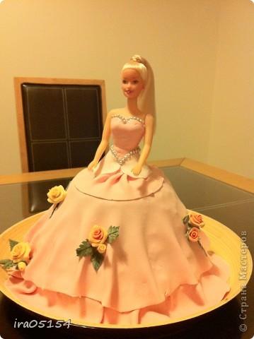Бисквитный торт с заварным кремом) украшения из мастики фото 1