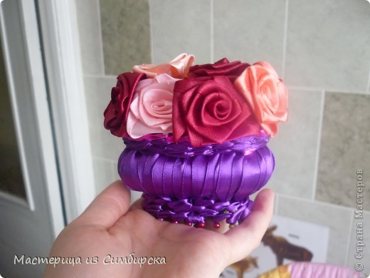 Корзинка с 7 розами фото 4