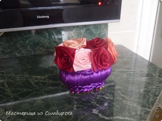 Корзинка с 7 розами фото 3