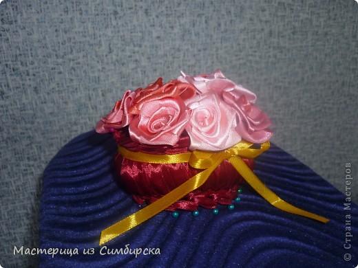 Корзинка с 7 розами фото 1