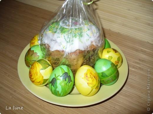 Моя первая работа в технике Декупаж. Решила проложить старт с декорирования яиц к Пасхе. фото 1